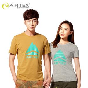 AIRTEX亚特 夏季新款 户外男女速干衣 排汗透气短袖 圆领纯棉T恤