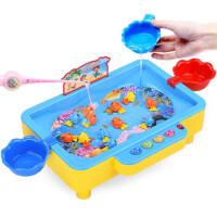 儿童电动旋转玩具小猫钓鱼音乐套装宝宝玩具3-6岁1男孩女孩益智