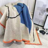 北欧风毯子办公室午睡毯冬季加厚保暖毛巾被毛毯被子汽车单人盖毯