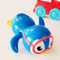 美国Munchkin麦肯齐发条玩具游泳企鹅儿童洗澡玩具宝宝戏水