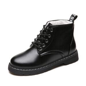 WARORWAR新品YM147-1708秋冬休闲平底舒适女士靴子短靴马丁靴