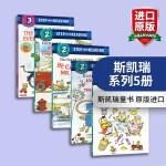 正版现货 斯凯瑞系列5册 英文原版绘本 美国兰登经典分级读物4-6岁 Step into Reading Richar