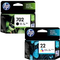 惠普原装正品 hp 702 黑色墨盒 hp 22 彩色墨盒 适用于 hp3606 j3606 J3608 j3508