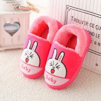 №【2019新款】冬天儿童穿的棉拖鞋女童宝宝可爱冬天男童室内亲子小孩毛毛鞋 儿童包跟