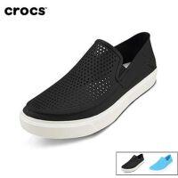 Crocs卡骆驰女鞋 夏季都会街头洛卡平底休闲女凉鞋板鞋|204622 女士都会街头洛卡便鞋