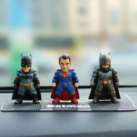 创意蝙蝠侠摇头汽车摆件超人太阳能高档车内车载装品车载摆件模型