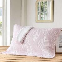 全棉枕巾 素雅三层纱布枕巾情侣枕头盖巾一对装两条枕巾