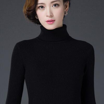 №【2019新款】冬天美女穿的新款高领毛衣女士套头修身显瘦打底衫加厚针织羊绒衫