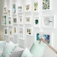 客厅卧室照片墙相框墙挂墙相片墙创意组合画框欧式简约实木相框 通用码