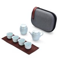 旅行茶具套装便携包快客杯一壶四杯陶瓷户外旅游功夫茶具