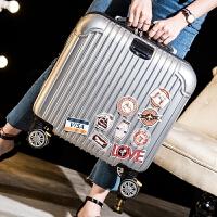 时尚商务拉链拉杆箱万向轮18英寸电脑箱登机箱旅行箱子行李箱包男女 四色款箱包拉杆箱