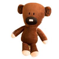 正版憨豆先生泰迪熊公仔毛绒玩具玩偶mr bean儿童生日礼物 30厘米