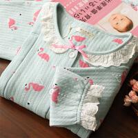 长袖哺乳衣产妇喂奶衣 月子服春秋产后孕妇睡衣秋冬季保暖