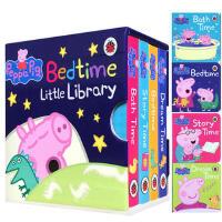英文原版 Peppa Pig: Bedtime Little Library 小猪佩奇 粉红猪小妹 4册手掌纸板书 儿童启蒙睡前故事 0-3-6岁
