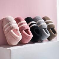 包跟棉拖鞋女冬季家居防滑保暖月子鞋家用室内产后毛绒棉鞋男冬天