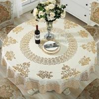 pvc玻璃胶桌布防水塑料印花圆桌餐桌防油酒店台布1.8米2m免洗桌面