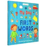 我的一天 英文单词绘本 英文原版 My Day First Words 精装 日常生活常用单词学习 涵盖多个活动场景