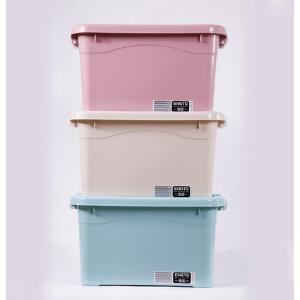 整理箱3只装衣物收纳箱塑料衣服+收纳盒装衣服的箱子大小号储物箱 新款老款*发