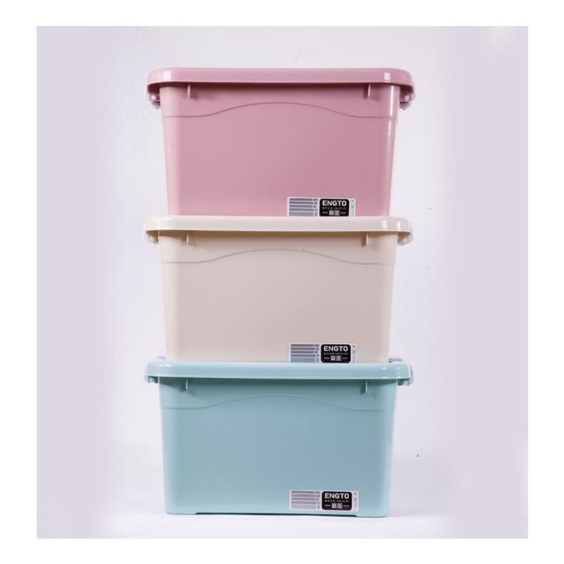 整理箱3只装衣物收纳箱塑料衣服+收纳盒装衣服的箱子大小号储物箱 新款老款*发顺丰包邮塑料衣服+收纳盒装衣服3只装箱子