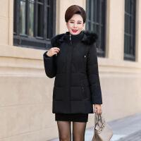 过年穿的中老年羽绒服女短款加厚加肥大码妈妈棉袄女冬棉衣40岁冬装外套
