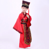 儿童古装汉服男 古代 学生 中国风国学服装幼儿孔子大臣演出服qg