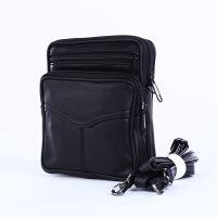 2018新款中性手提包办公用品收纳公文包斜挎包钱包单肩包 黑色斜挎包
