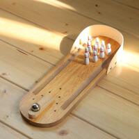 创意家居木质桌面保龄球迷你实用休闲办公室游戏玩具工艺品 桌面保龄球
