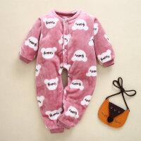 宝宝冬装加厚连体衣婴儿珊瑚绒睡衣男1-3岁女5冬季儿童防着凉睡衣