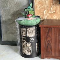 中式办公室流水摆件创意轮客厅装饰喷泉水景加湿摆设鱼缸