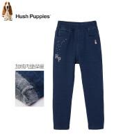 【3件3折:125.7元】暇步士童装冬季新款女童加绒牛仔裤时尚针织牛仔一体绒长裤儿童加绒长裤