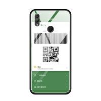 华为nova3i荣耀note10 8x max手机壳玻璃套软意恶搞二维码