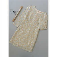 [T200-606]春女装20新款全蕾丝修身欧根纱连衣裙20