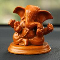 汽车创意树脂大象摆件车载开运吉祥车摆件象车内饰品保平安 汽车用品