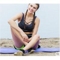 时尚背心内衣瑜伽系带文胸强度防震运动内衣无插片前X型交叉装饰