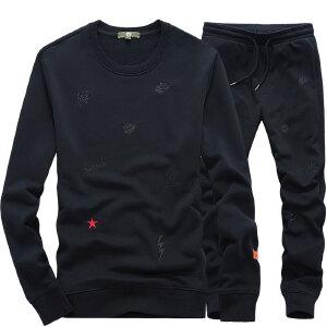 战地吉普AFS JEEP男士加绒加厚保暖3件套连帽马甲套装2018男士秋冬户外运动上装卫衣卫裤背心