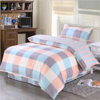 ???学生上下铺大学生宿舍三件套 单人上下铺床单被罩 被套160*210 cm床单