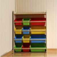 儿童玩具收纳柜整理架储物柜收纳筐 木纹色 110cm*86cm*30cm预售