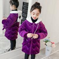 女童棉衣3加厚外套4����5冬�b6冬天7�q2女孩8金�z�q9棉�\ 紫�t色