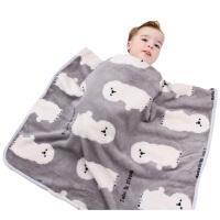 新款薄被春夏婴儿毛毯薄款珊瑚绒法兰绒毛毯新生儿盖毯宝宝推车毯 深色八哥 73*100厘米