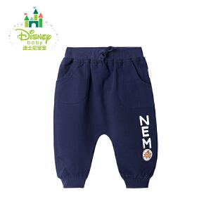 迪士尼Disney儿童裤子春秋男宝宝纯棉休闲哈伦裤运动裤171K752
