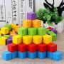 正方体积木数学教具木制立方形小方块拼搭积木幼儿园儿童益智玩具