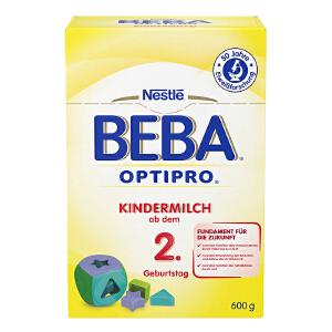 保税区直发 德国Nestlé雀巢BEBA贝巴成长奶粉2+段(2岁以上)600g