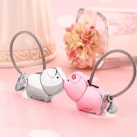 挂件情侣款礼物一对创意男接吻小猪钥匙扣女简约钥匙圈