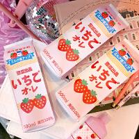 韩版卡通可爱日系创意少女便携文具袋铅笔袋学生女草莓牛奶盒笔袋