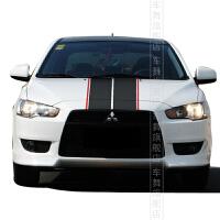 车舞三菱翼神跑道线赛车线条拉花车头车顶御用车贴贴纸车身拉花