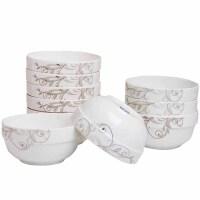 家用碗10个装景德镇陶瓷碗4.5英寸家用碗