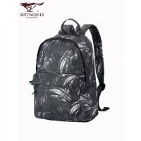 七匹狼男士双肩包女韩版背包中学生书包休闲男包旅行包新款电脑包