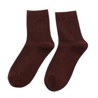 中筒袜子男袜春秋男士商务袜运动袜黑白纯色男袜冬季 白色 5双装 均码