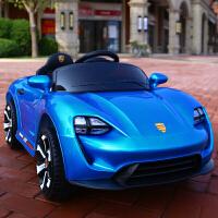 儿童电动车四轮宝宝小汽车带遥控男女小孩玩具车子可坐人充电童车 双驱双电 烤漆蓝+所有功能