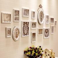 欧式照片墙相框墙创意组合挂墙客厅卧室相片背景简约现代实木装饰